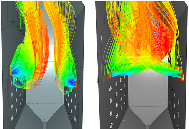 Over-Fire Air CFD model